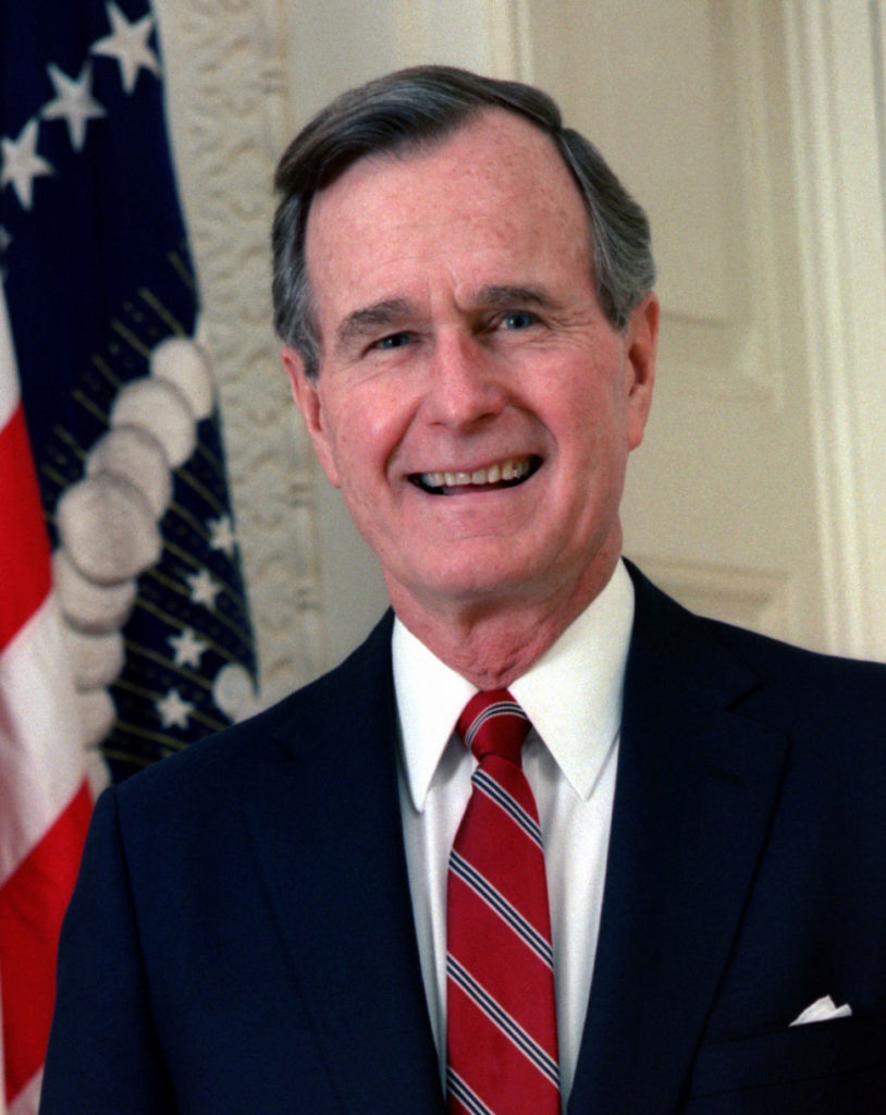 1990	George H.W. Bush, president of the United States