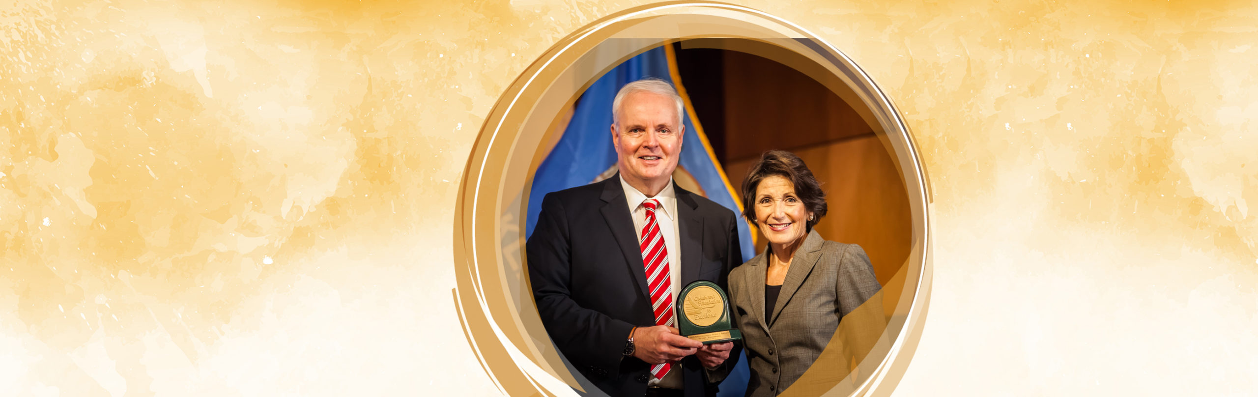 Thompson Receives Distinguished Service Award From Oklahoma Foundation for Excellence